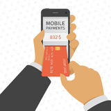 Mobile payments concept illustration. Royalty Free Stock Photo