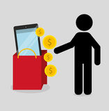 Mobile payments design Stock Photos