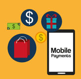 Mobile payments design. Illustration eps10 graphic Royalty Free Stock Photos