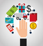 Mobile payments design. Illustration eps10 graphic Stock Photo