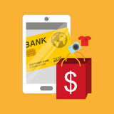 Mobile payments design. Illustration eps10 graphic Royalty Free Stock Photography
