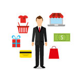 Mobile payments design Royalty Free Stock Photography