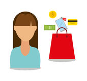 Mobile payments design Royalty Free Stock Images