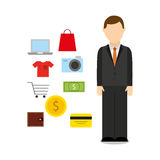 Mobile payments design. Illustration eps10 graphic Royalty Free Stock Image