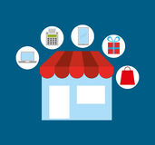 Mobile payments design. Illustration eps10 graphic Royalty Free Stock Photo