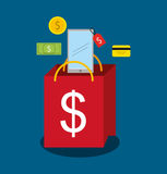 Mobile payments design. Illustration eps10 graphic Stock Photography