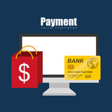 Mobile payments design. Illustration eps10 graphic Stock Images