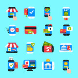Mobile payments icons vector set. Royalty Free Stock Image