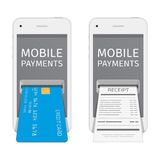 Mobile payments illustration. Royalty Free Stock Photos