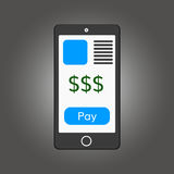 Mobile payments illustration Stock Images