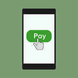 Mobile payments illustration Stock Photo