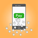 Mobile payments illustration Royalty Free Stock Photos