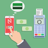 Mobile payments and near field communication Royalty Free Stock Photos