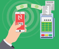 Mobile payments and near field communication Royalty Free Stock Image
