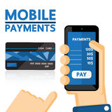 Mobile payments Stock Image
