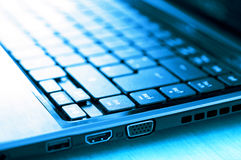 Mobile PC or Laptop in cold blue Stock Image
