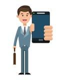 Mobile people cartoon design vector illustration