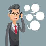 Mobile people cartoon design royalty free illustration