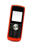 Mobile phone. Single mobile phone over white background Stock Images
