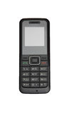 Mobile phone. Black mobile phone of GSM standart for peoples communications royalty free stock images