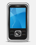 Mobile phone. Illustration of a realistic mobile phone isolated on background.EPS file available vector illustration