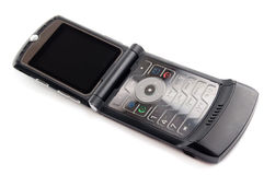 Mobile phone. Modern mobile phone on white background Royalty Free Stock Photos
