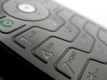 Mobile phone. Detail of a mobile phone with a shallow depth of field Royalty Free Stock Images
