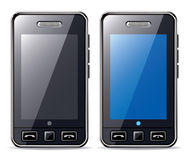 Mobile phone. With black and blue screen Royalty Free Stock Photography