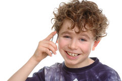 Mobile Phone. Boy using a mobile phone Stock Image