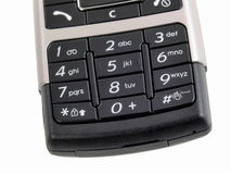 Mobile phone. Generic detail of mobile phone keyboard Royalty Free Stock Images