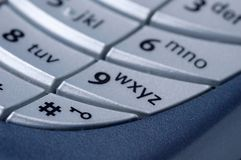 Mobile Phone. Keyboard closeup of a mobile phone Royalty Free Stock Images