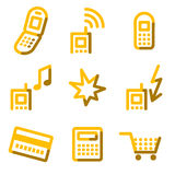 Mobile phone 2 icons Stock Photography