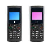 Mobile phone. Man and woman Royalty Free Stock Photography