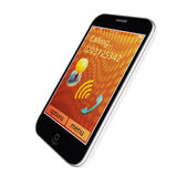 Mobile phone. The screen displays the call.  on white background Stock Photography