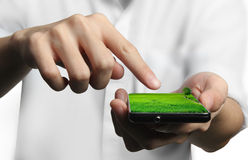 Mobile phone. Ecological Concept, touch screen mobile phone Stock Images