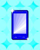 Mobile phone. Touch pad with display background stock illustration