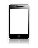 Mobile phone. In black body. Shiny icon Stock Images