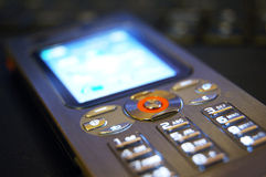 Mobile Phone. Perspective view of a mobile phone royalty free stock photos