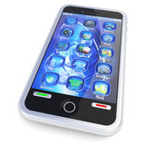 Mobile phone with 3d applications Royalty Free Stock Photography