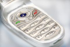 Mobile phone. A detail of a mobile phone Stock Image