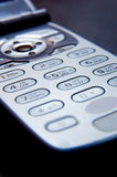 Mobile phone. In close-up - video call conversation royalty free stock images