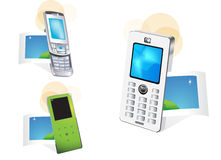 Mobile phone. Vector drawing of isolated mobile phone or cell phone,picture Royalty Free Stock Photo
