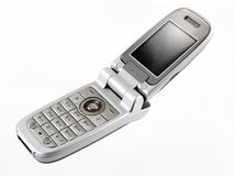 Mobile phone. Open mobile phone -isolated royalty free stock photo