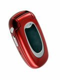 Mobile phone. Red mobile phone stock photography