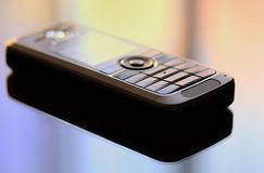 Mobile phone. On color background Royalty Free Stock Photos
