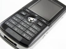 Mobile phone. And macro mode royalty free stock photos