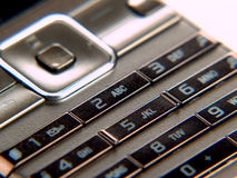 Mobile phone. Keypad of a mobile phone Stock Image