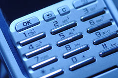 Mobile phone. Keyboard Royalty Free Stock Photo