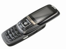 Mobile phone. Open mobile phone stock images