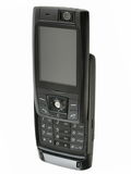 Mobile phone. Black mobile phone royalty free stock photo